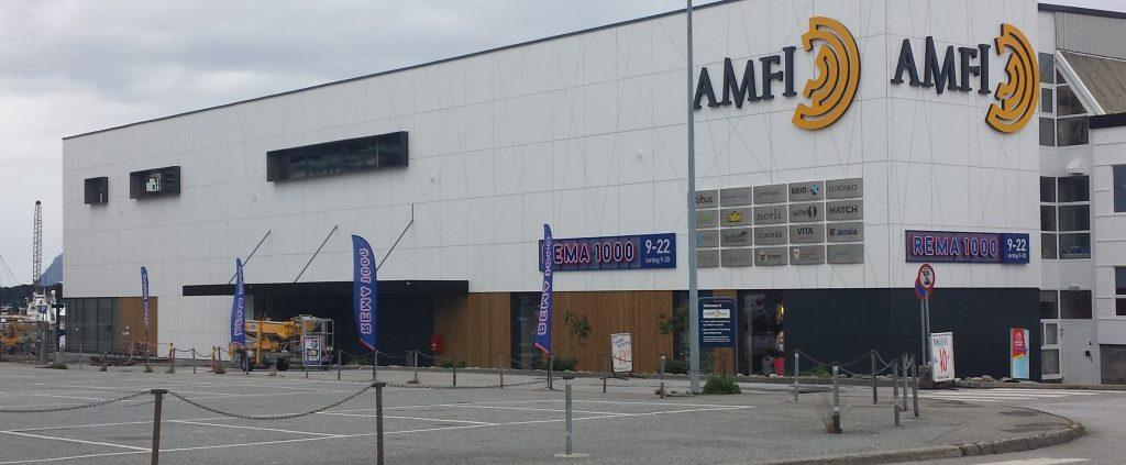 Ny fasade på Amfi Florø